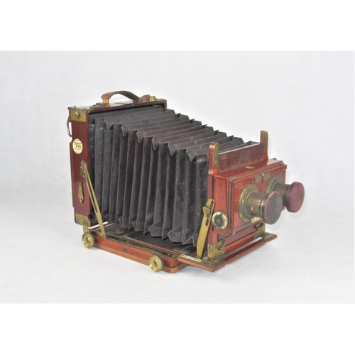 14 - A c.1900 Thornton Pickard 'Ruby' Camera with several lenses inc. Clement & Gilmer, Paris, & J.H. Dal...