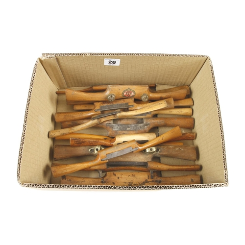 20 - 14 beech and boxwood s/shaves G+