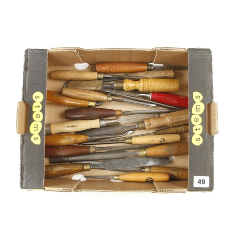 49 - 30 chisels and gouges etc G+