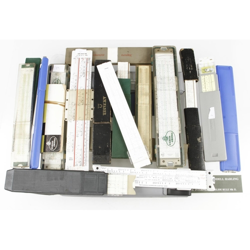 676 - 20 various slide rules by FABER, ARISTO etc G