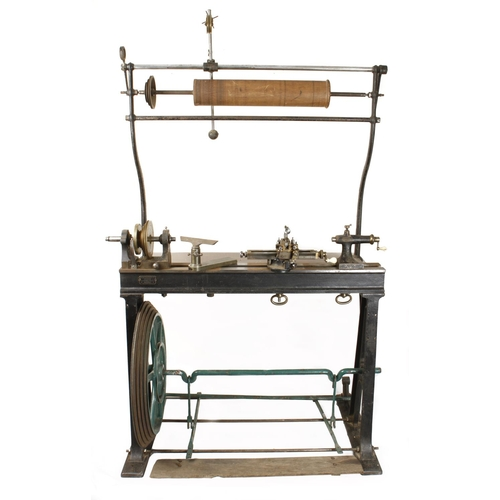 802 - An ornamental turning treadle lathe by MELHUISH London with overhead gear and 48