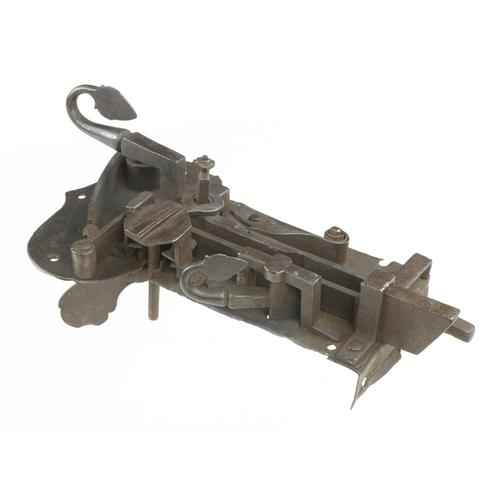 805 - A 17c iron cabinet or door lock 12