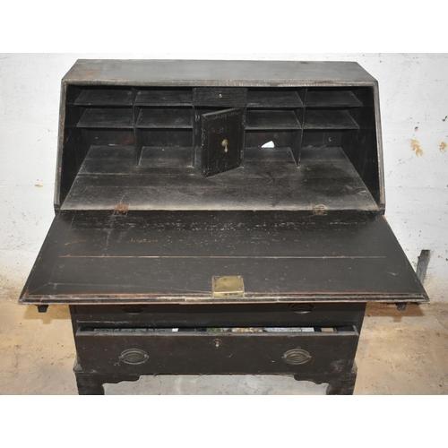 13 - An antique oak desk                                                            Subject to VAT