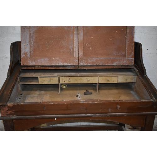 14 - A clerk's antique desk with woodgrain finish                                                        ...