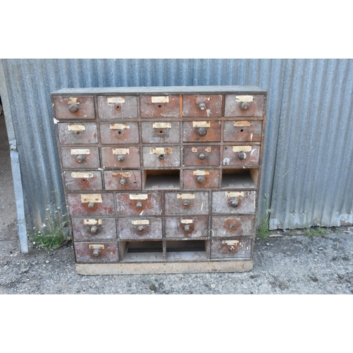 161 - A bank of chemists drawers for restoration 44