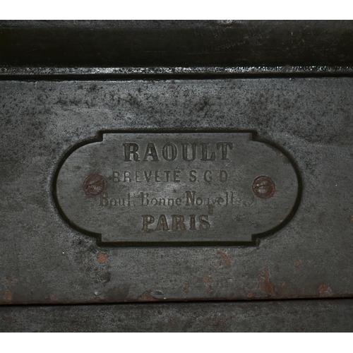 19 - An antique French safe by RAOULT Boul Bonne, Nouvelle Paris with key                                ...