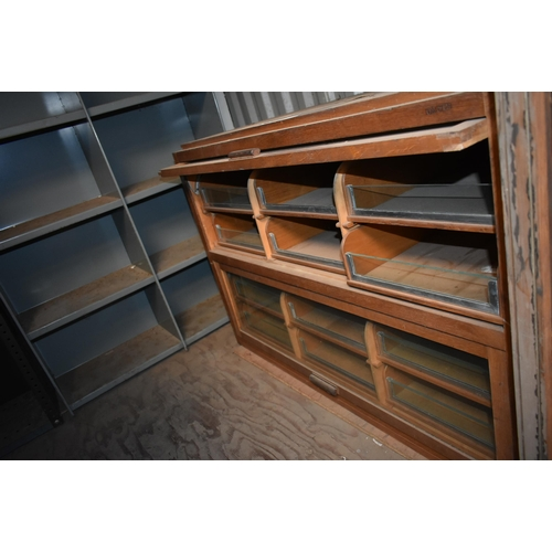202 - Two glass fronted haberdasher's display cabinets with drawers                                       ...