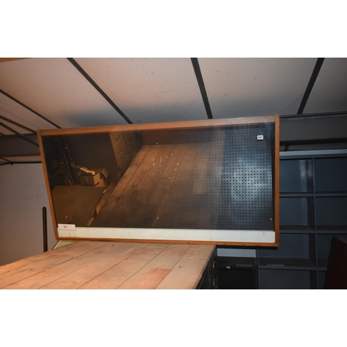 207 - A glass fronted display cabinet 60