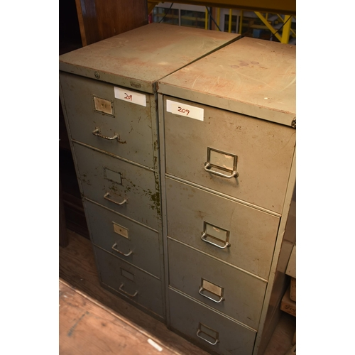 209 - Two four drawer filing cabinets                                          Subject to VAT
