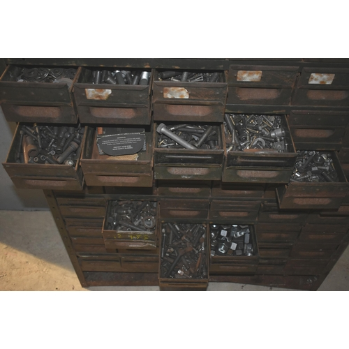 39 - A Dexion multi-drawer cabinet with nuts and bolts etc                                               ...