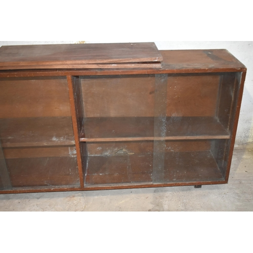 49 - A glazed cupboard for restoration                                  Subject to VAT