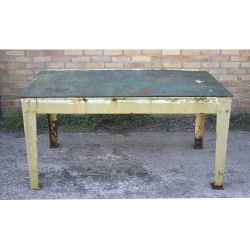 60 - A heavy duty metal table/bench 62