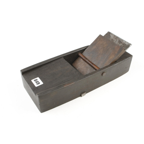849 - An unusually large Japanese rosewood low angle mitre plane 13