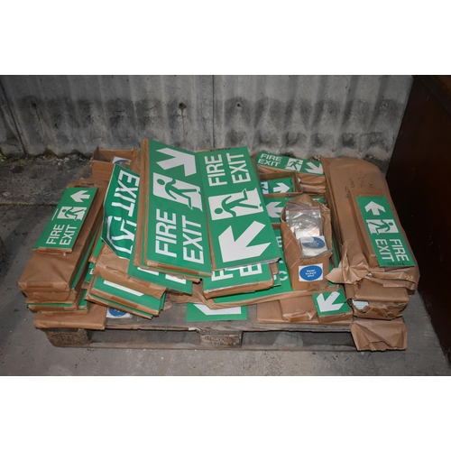 9 - A quantity of Fire Exit and other signs                           Subject to VAT