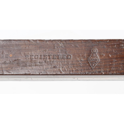 807 - A fine quality brass stocked rosewood mortice gauge with Registered design mark G++