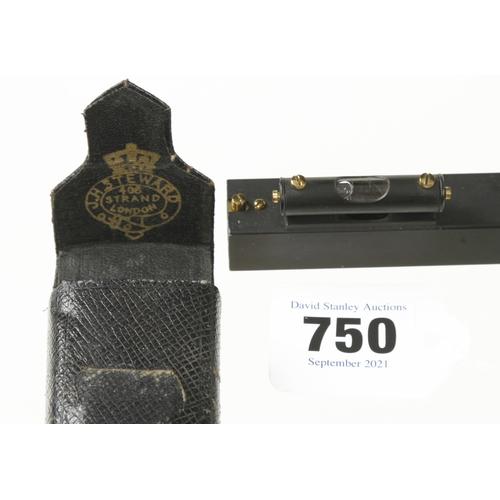 750 - A pocket reflecting level by J.H.STEWARD London in orig case F