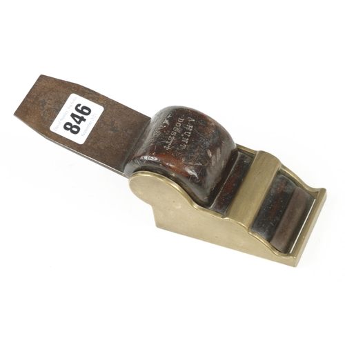 846 - An unusual brass chariot plane 3 1/2