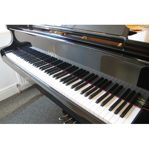50 - Fazioli (c2003)  A 6ft Model F183 grand piano in a bright ebonised case on square tapered legs....