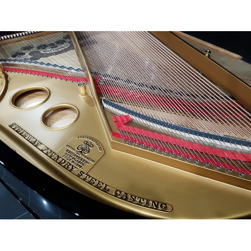 40 - Steinway (c1906)  A 5ft 10in Model O grand piano in a bright ebonised case on square tapered legs. T...