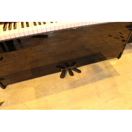 1 - Kawai (c2007) A Model K-15 upright piano in a bright ebonised case; together with a stool....