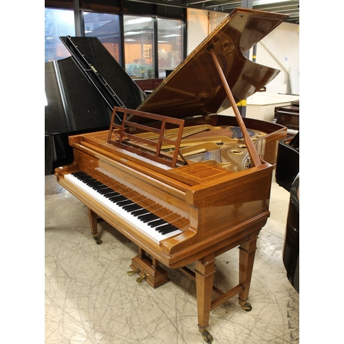 14 - Blüthner (c1906)  A 6ft 3in grand piano in a satin and boxwood strung case on dual square tapered su...