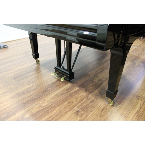 30 - Steinway (c1971)  A 6ft 11in Model B grand piano in a bright ebonised case on square tapered legs; t...