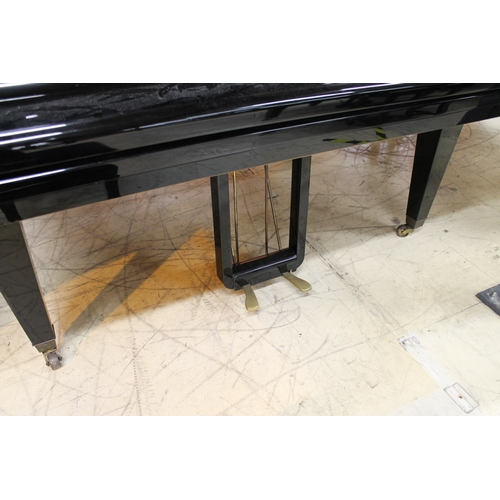 44 - Schimmel (c1961)  A 6ft 3in Model 190 grand piano in a bright ebonised case on square tapered legs; ...