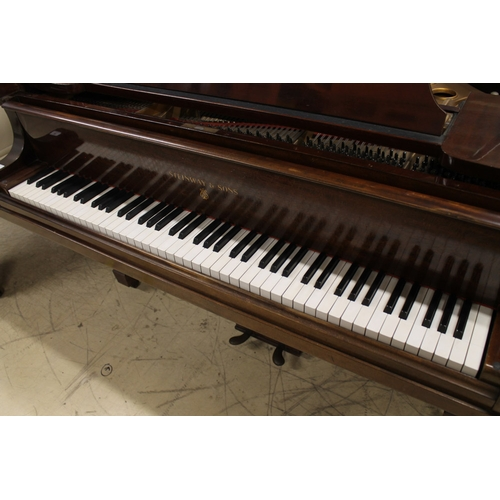 47 - Steinway (c1929)  A 5ft 7in Model M grand piano in a mahogany case on square tapered legs....