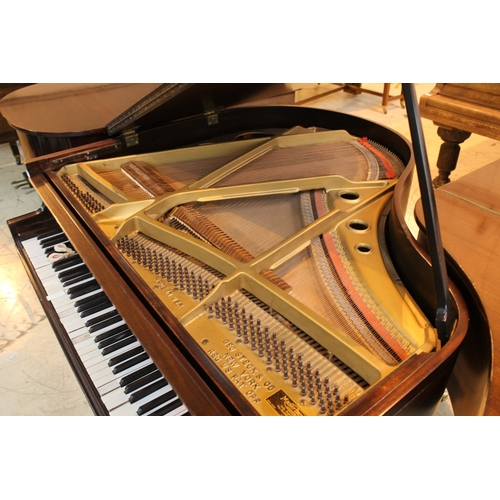 56 - Steck (c1930's)  A 4ft 6in grand piano in a mahogany case on square tapered legs; together with a st...