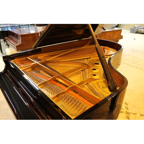 135 - Steinway (c1988) LATE ENTRY A 6ft 11in Model B grand piano in a bright ebonised case on square taper...