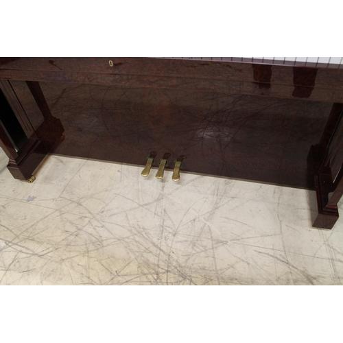 28 - Bechstein (c2001)  A Model Concert 8 upright piano in a vavana burl wood case...