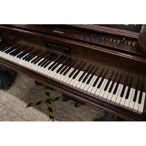 6 - Steinway (c1881)  A 6ft 11in 85-note Model B grand piano in a rosewood case on turned 'elephant' leg...