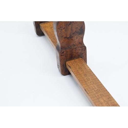 14 - Edwardian wooden cobbler's sliding shoe size/ foot measure...