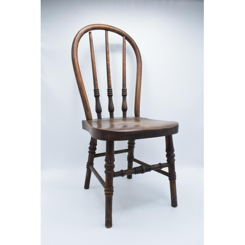 19 - Late Victorian/Early 20th century apprentice spindle back chair...