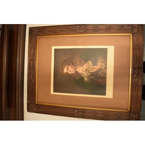 25 - Large Art-Deco wooden frame...