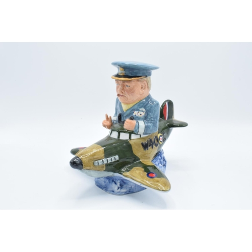 39 - Bairstow Manor Collectables comical model of Winston Churchill in a spitfire...
