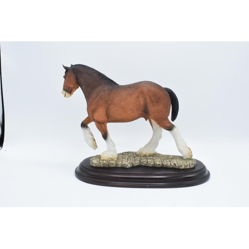 44 - Boxed Country Artists countryside figure of a Clydesdale horse...