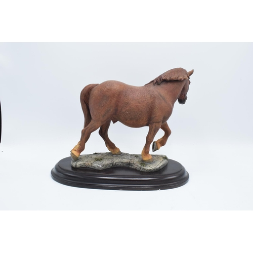 46 - Boxed Country Artists countryside figure of a Suffolk Punch horse...