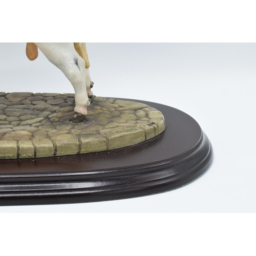 47 - Boxed Country Artists countryside figure of a Belgian Blue- 'The Winning Partnership'...