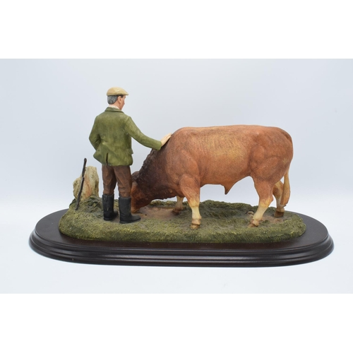 49 - Boxed Country Artists countryside figure of a Limousin Bull- 'The Champions Reward'...