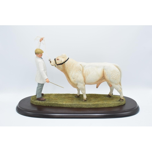 50 - Boxed Country Artists countryside figure of a Charolais Bull - 'The Best in Show'...