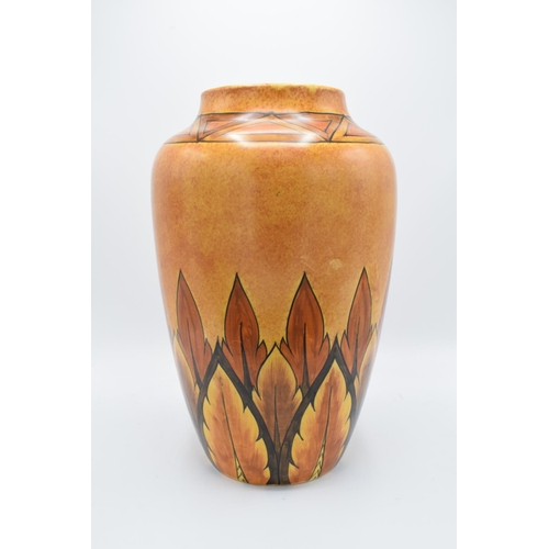 51 - Clews and Co Chameleon Ware large vase, '228' impressed to base, 37cm tall....