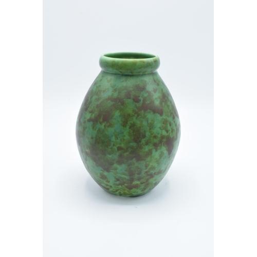 56 - Clews and Co Chameleon Ware mottled green vase: '216' impressed to base...