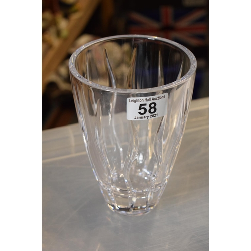 58 - Waterford Crystal Tonn 7 inch vase...
