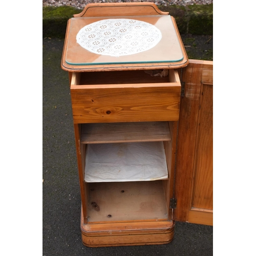 337 - Victorian painted pine bedside cabinet