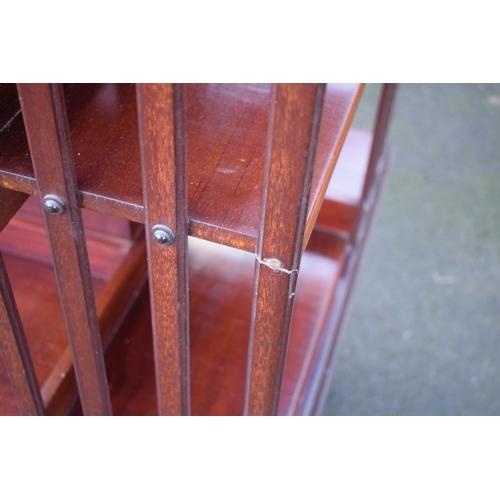 338 - Large Edwardian mahogany rotating bookcase
