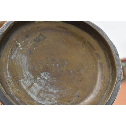 11 - A collection of Askew Maker of Nottingham tankards (1/2 pint, pint etc) together with 2 victorian co...