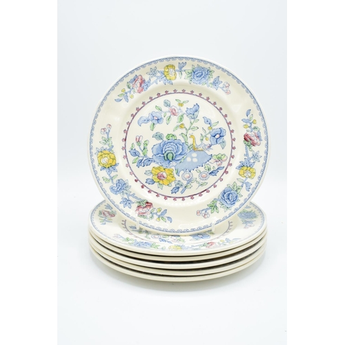 2 - Masons Regency 10'' dinner plates (6) Generally in good condition, one has bad staining...