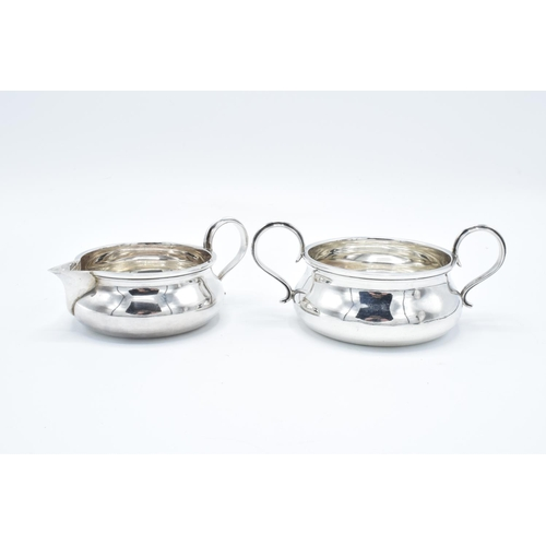 223 - Silver porringer together with a 2 handled bowl: Made by Goldsmith & Silversmith, London 1916 (292 g...