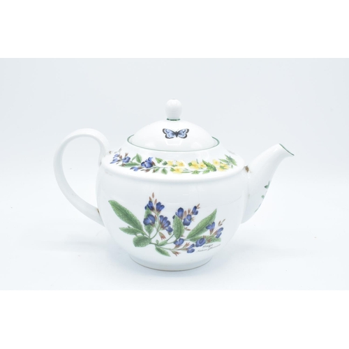 25 - Royal Worcester teapot in the Worcester Herbs design. All in good condition without any obvious dama...